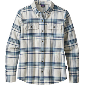 Patagonia W's Fjord Flannel Longsleeve Shirt Activist Big: Birch White